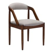 Zuo Jefferson Linen Blend Dining Chair Light Gray 100723