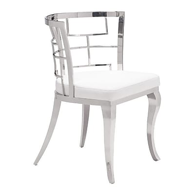 Zuo Quince Leatherette Dining Chair White Pack of 2 100332
