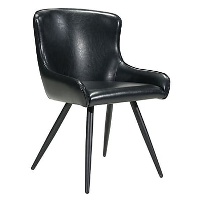 Zuo Dresden Leatherette Dining Chair Black Pack of 2 100757