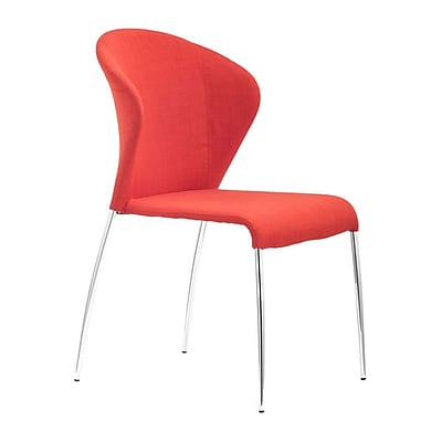 Zuo Oulu Polyblend Dining Chair Tangerine Pack of 4 100041