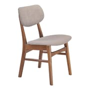 Zuo Midtown Linen Polyblend Dining Chair Dove Gray Pack of 2 100111