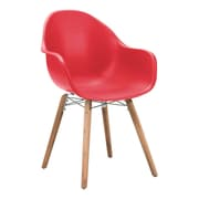 Zuo Tidal Polypropylene Dining Chair Red Pack of 4 703754