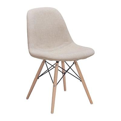 Zuo Selfie Polyester Linen Dining Chair Beige 100509