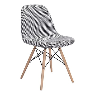 Zuo Sappy Polyester Linen Dining Chair Houndstooth 100510