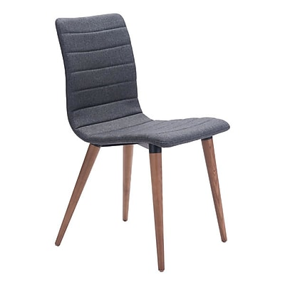 Zuo Jericho Polyblend Dining Chair Gray Pack of 2 100274