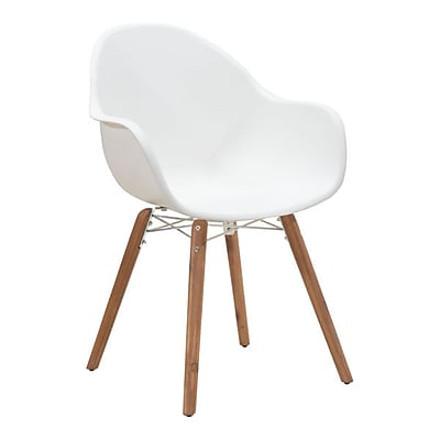 Zuo Tidal Polypropylene Dining Chair White Pack of 4 703752