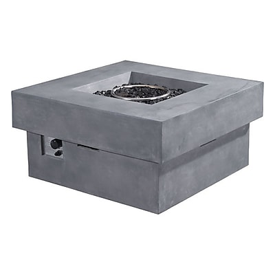 Zuo Diablo Propane Fire Pit Gray (100413)