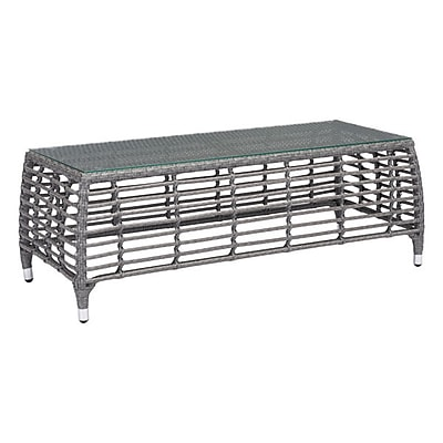 Zuo Trek Beach Coffee Table Gray & Beige (703828)