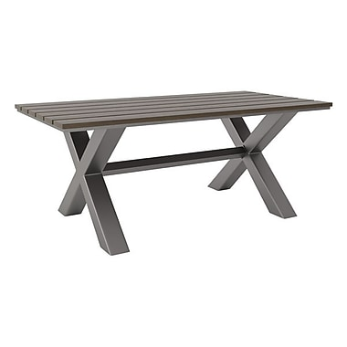 Zuo Bodega Dining Table Industrial Gray & Brown (703817)