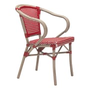 Zuo Paris Dining Arm Chair Red & White Pack of 2 (703800)