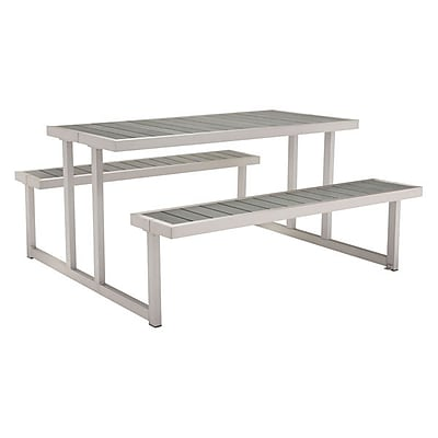 Zuo Cuomo Picnic Table Brushed Aluminum (703784)