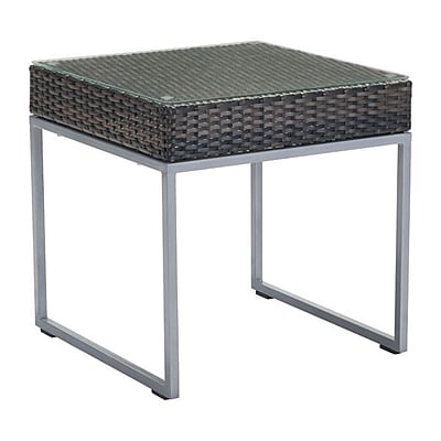 Zuo Malibu Side Table Brown & Silver (703837)