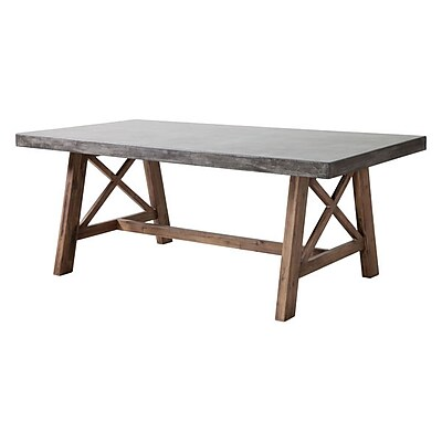 Zuo Ford Dining Table Cement & Natural (703594)