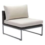 Zuo Malibu Middle Chair Brown & Beige (703834)