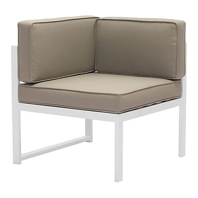 Zuo Golden Beach Corner White & Taupe (703811)