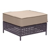 Zuo Pinery Ottoman Brown & Beige (703798)