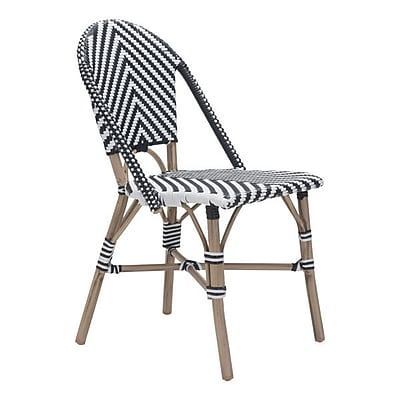 Zuo Paris Dining Chair Black & White Pack of 2 (703805)
