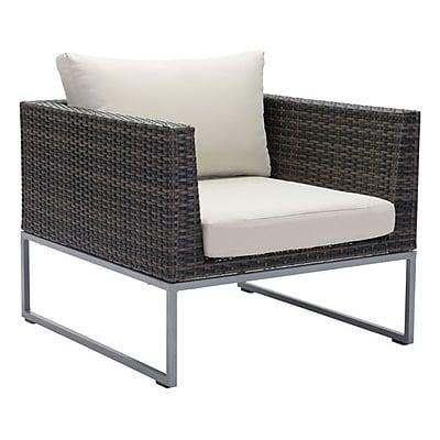 Zuo Malibu Arm Chair Brown & Beige (703836)