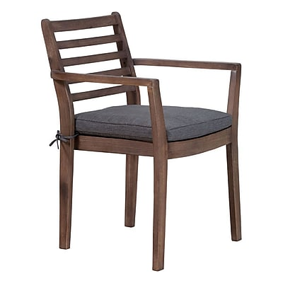 Zuo Sancerre Dining Chair Natural & Gray Pack of 2 (703589)