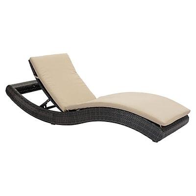 Zuo Pamelon Beach Chaise Lounge Brown & Beige (703840)
