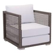 Zuo Coronado Arm Chair Cocoa & Light Gray (703822)