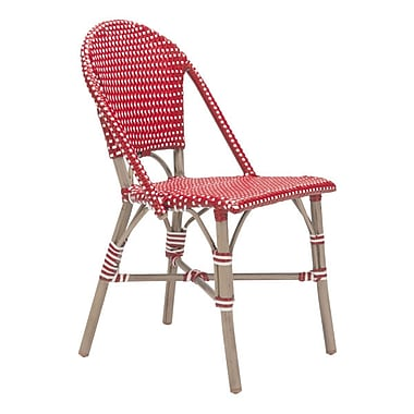 Zuo Paris Dining Chair Red & White Pack of 2 (703803)