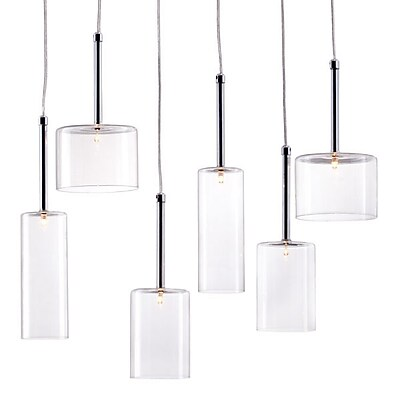 Zuo Hale Ceiling Lamp Clear (50140)