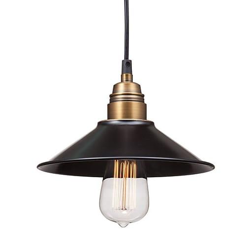 Zuo Ceiling Lamp: Zuo Amarillite Ceiling Lamp Black & Copper (98257)