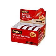 """Scotch® Adhesive Dot Roller Value Pack, 0.31"""" x 49', 4/Pack (6055BNS)"""