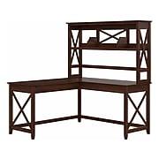 "Bush Furniture Key West 60"" L-Shaped Desk, Bing Cherry (KWS048BC)"