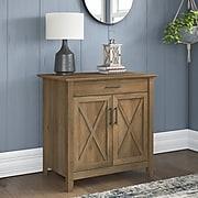 "Bush Furniture Key West 30"" Secretary Desk with Keyboard Tray, Reclaimed Pine (KWS132RCP-03)"