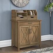 "Bush Furniture Key West 30"" Secretary Desk with Storage and Desktop Organizers, Reclaimed Pine (KWS011RCP)"