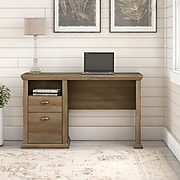 "Bush Furniture Yorktown 50"" Home Office Desk with Storage, Reclaimed Pine (WC40523-03)"
