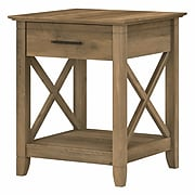 """Bush Furniture Key West 20"""" x 20"""" End Table, Reclaimed Pine (KWT120RCP-03)"""