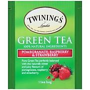 Twinings of London Green, Pomegranate, Raspberry & Strawberry Tea Bags, 25/Box