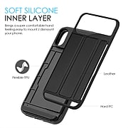 Card Holder Back Cover Carrying Case for Apple iPhone X (APLCRC762)