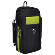 Black Green Universal Travel Cellphone Carrying Pouch Case (CELLEA825)