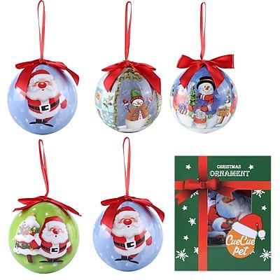 6 x Christmas Tree Ornaments Ball Set Santa Clause Snowman Home Decor (807)