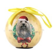 Gold Twinkling Lights Christmas Tree  Ball Ornament home decor Dog Puppy,Terrier (ORNDOG403)