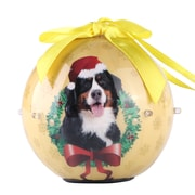 Gold Twinkling Lights Christmas Tree  Ball Ornament home decor Dog Puppy, Bernese (ONRDOG420)