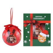 Red Puppy Reindeer Christmas Tree Ball Ornament home decor (ORNDOG106)