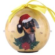Gold Twinkling Lights Christmas Tree  Ball Ornament home decor Dog Puppy, Dachshund (ONRDOG409)