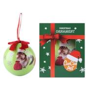 Green Squirrel Chrismas Hat Christmas Tree Ball Ornament home decor (ORNDOG102)