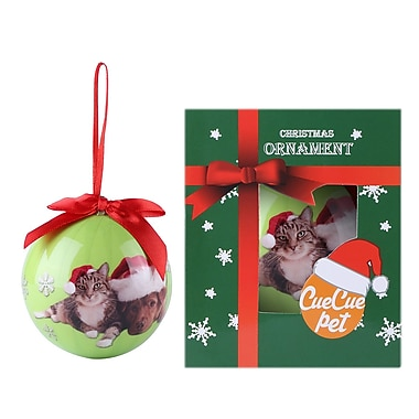Green Christmas Tree Ball Ornament home decor, Cat and Dachshund (ORNDOG107)