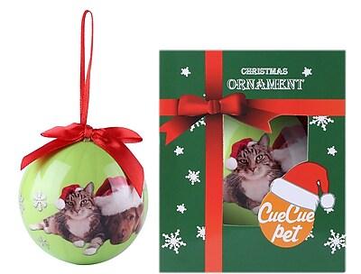 Green Christmas Tree Ball Ornament home decor, Cat and Dachshund (ORNDOG107)