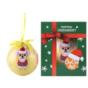 Golden Chihuahua Christmas Tree Ball Ornament home decor (ORNDOG110)
