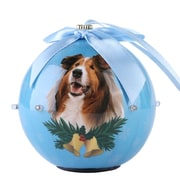 BlueTwinkling Lights Christmas Tree  Ball Ornament home decor Dog Puppy, Collie (ONRDOG418)