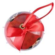 Red Twinkling Lights Christmas Tree  Ball Ornament home decor, Pug (ONRDOG415)