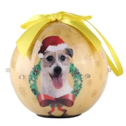 Gold Twinkling Lights Christmas Tree  Ball Ornament home decor Dog Puppy, Jack Russell (ONRDOG412)