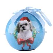 BlueTwinkling Lights Christmas Tree  Ball Ornament home decor Dog Puppy,, Shih Tzu (ONRDOG419)
